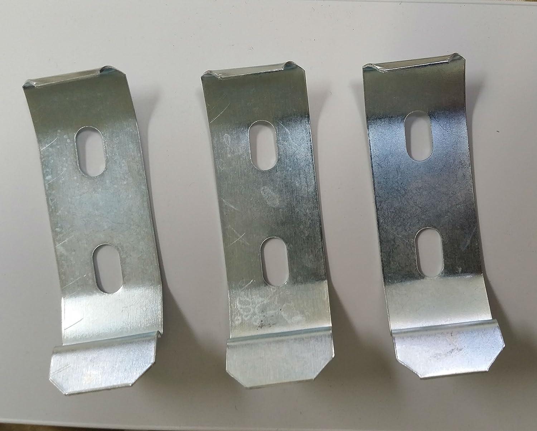 Vertical Blind Ceiling Mount Bracket Clip 3 Pack for 2 Inch Wide Headrails