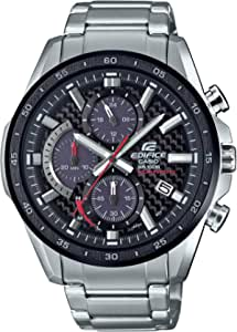 Casio Men's Edifice Quartz Watch with Stainless-Steel Strap, Silver, 22 (Model: EQS-900DB-1AVCR)