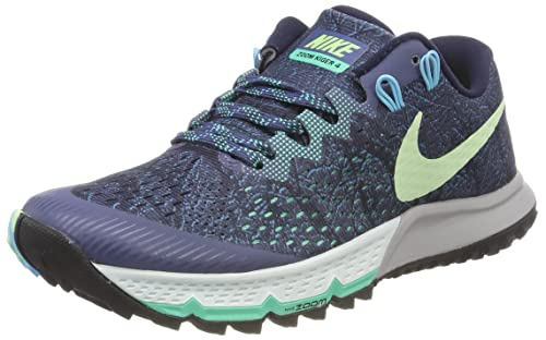 Nike Womens Air Zoom Terra Kiger 4, Diffused Blue/Vapor Green, Size 12