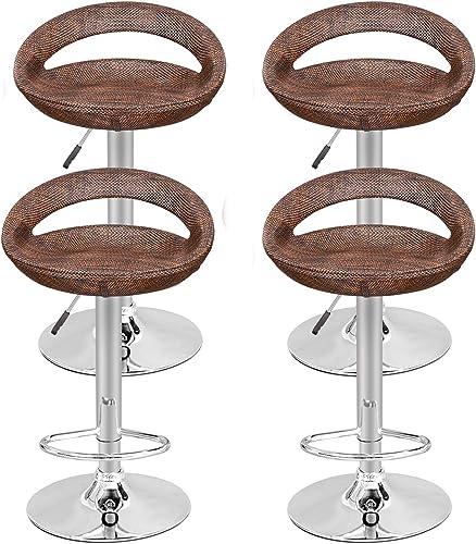 ZENY Set of 4 Adjustable Bar Stool