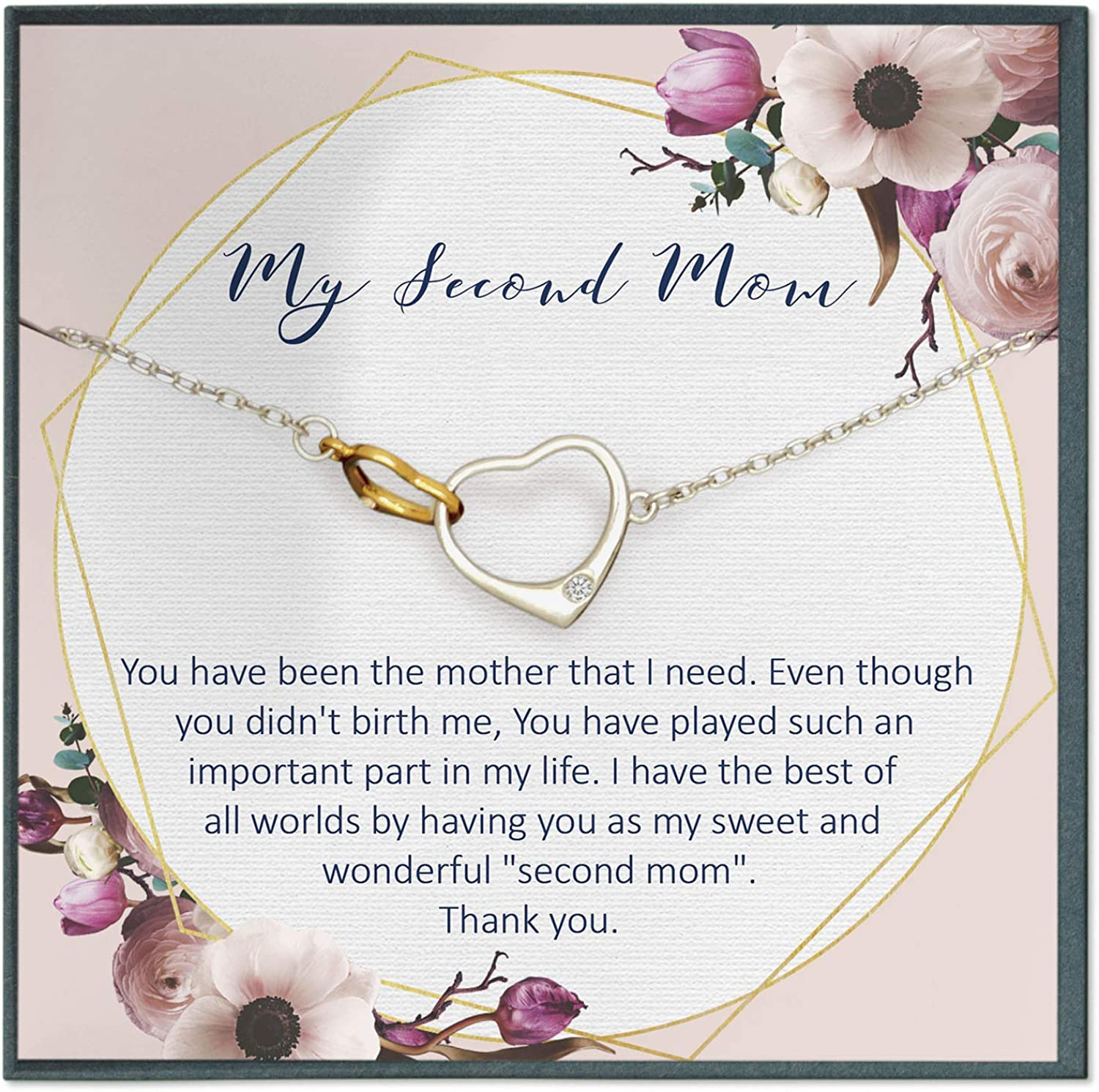 Amazon Com Grace Of Pearl Second Mom Quotes Jewelry My Other Mother Stepmom Gifts Stepmother Mother In Law Gifts Mother Like Jewelry