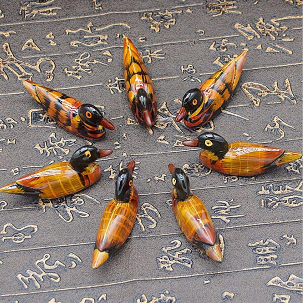 4/pcs Creative R/ésine Canard Mandarin repose Baguettes de support et mini Craft Micro Paysage D/écoration de table Marron