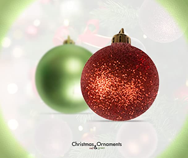 Amazoncom 100 Red and Green Christmas Ornament Balls