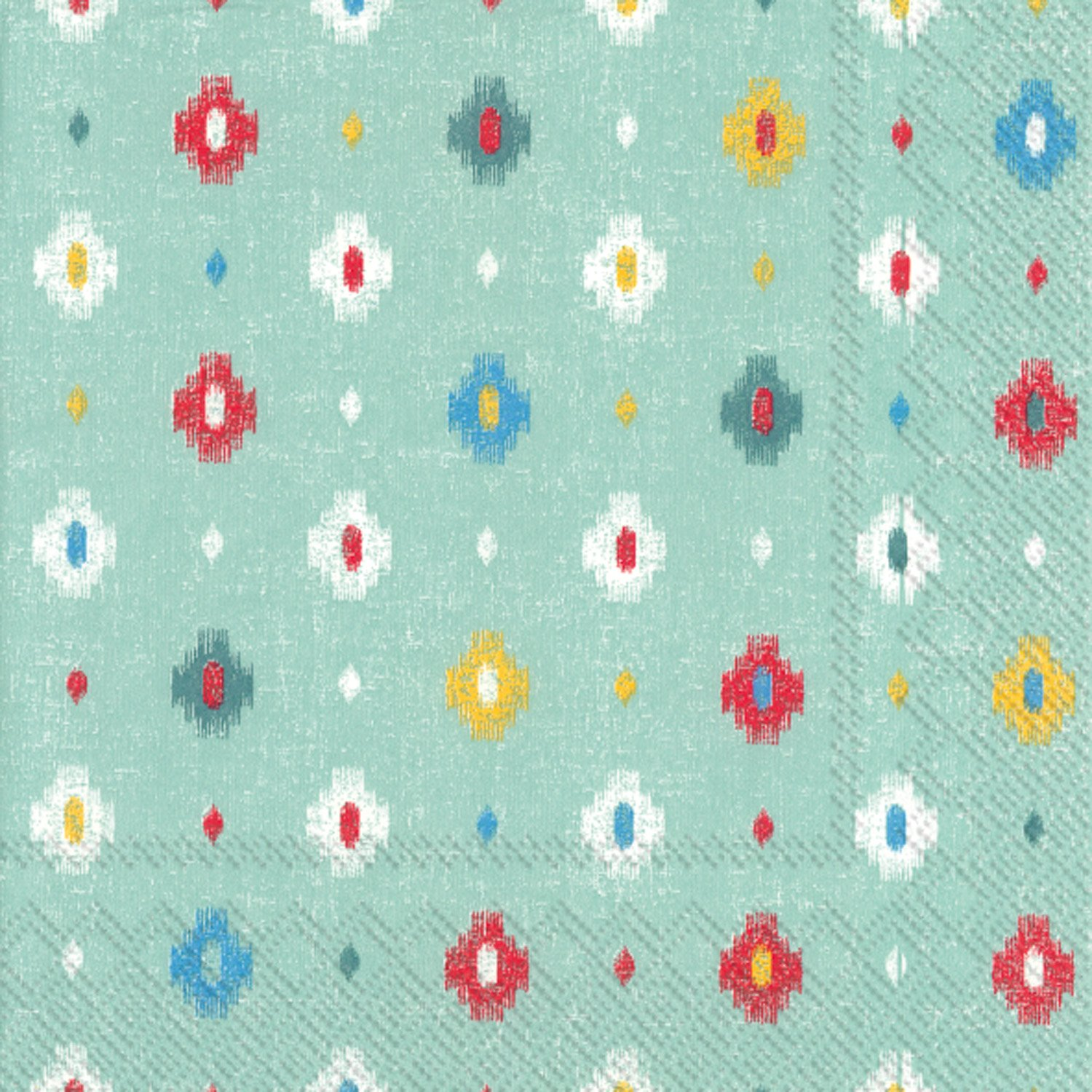 Celebrate the Home Vibrant 3-Ply Paper Cocktail Napkins, Turquoise Andes, 20 Count