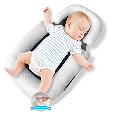 with Two Covers Gift Essential/  Lounger Baby Nest Co Sleeping for Baby / Ultra Soft Cotton /& Breathable Fiberfill Portable Adjustable Newborn from 0-18 Months