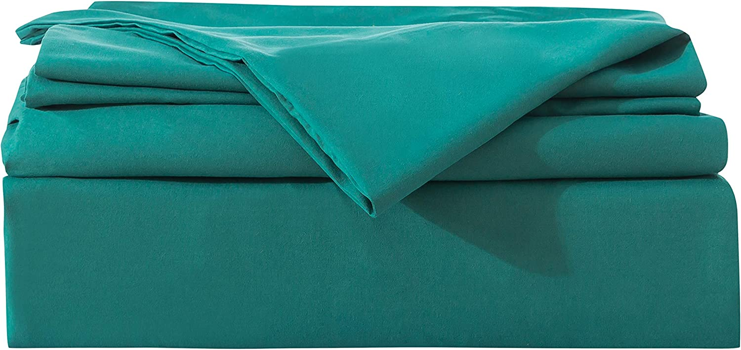 Mohap Duvet Cover Full Lake Green 3 Pieces Set with Corner Ties Solid Color Soft Double Brushed Microfiber Hotel Quality Comforter Cover with Zipper Clousre