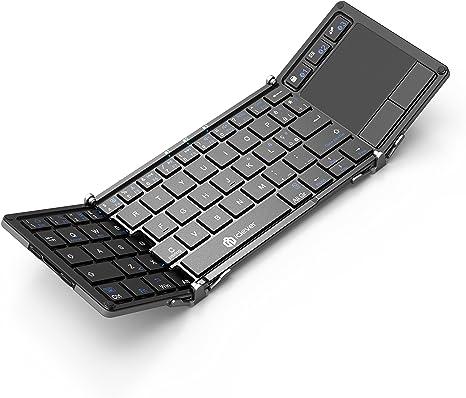 Teclado Bluetooth, Teclado Plegable iClever con Almohadilla ...