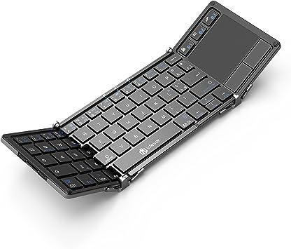 Teclado Bluetooth, Teclado Plegable iClever con Almohadilla Táctil ...