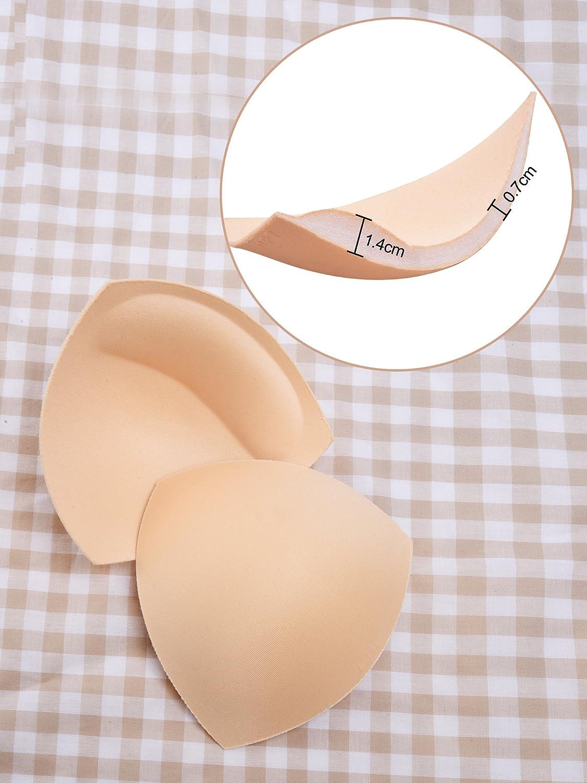 Almohadillas de Sujetador de Bikini Rellenos de Sujetador Almohadilla de Empuje, 3 Colores, Forma de Triángulo, 3 Pares: Amazon.es: Ropa y accesorios