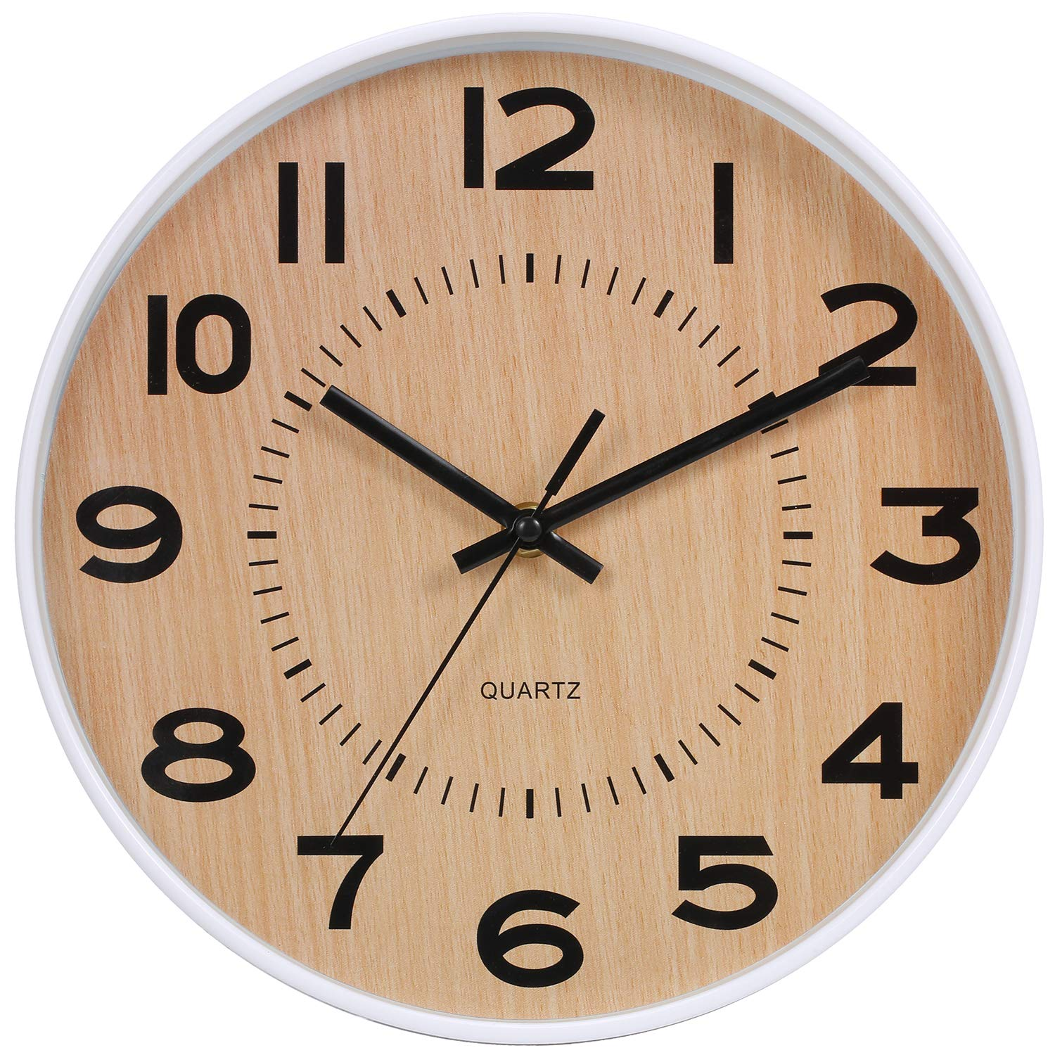 . JoFomp Modern Wall Clock  10 inch Battery Operated Silent Non Ticking  Quartz Wall Clocks  Simple Elegant Decoration Wall Clock for Living Room  Office