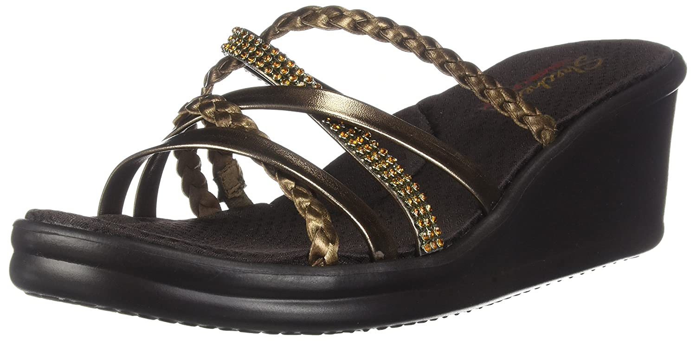 b0308fb3faed Details about Skechers Cali Women s Rumblers-Social Butterfly Wedge Sandal