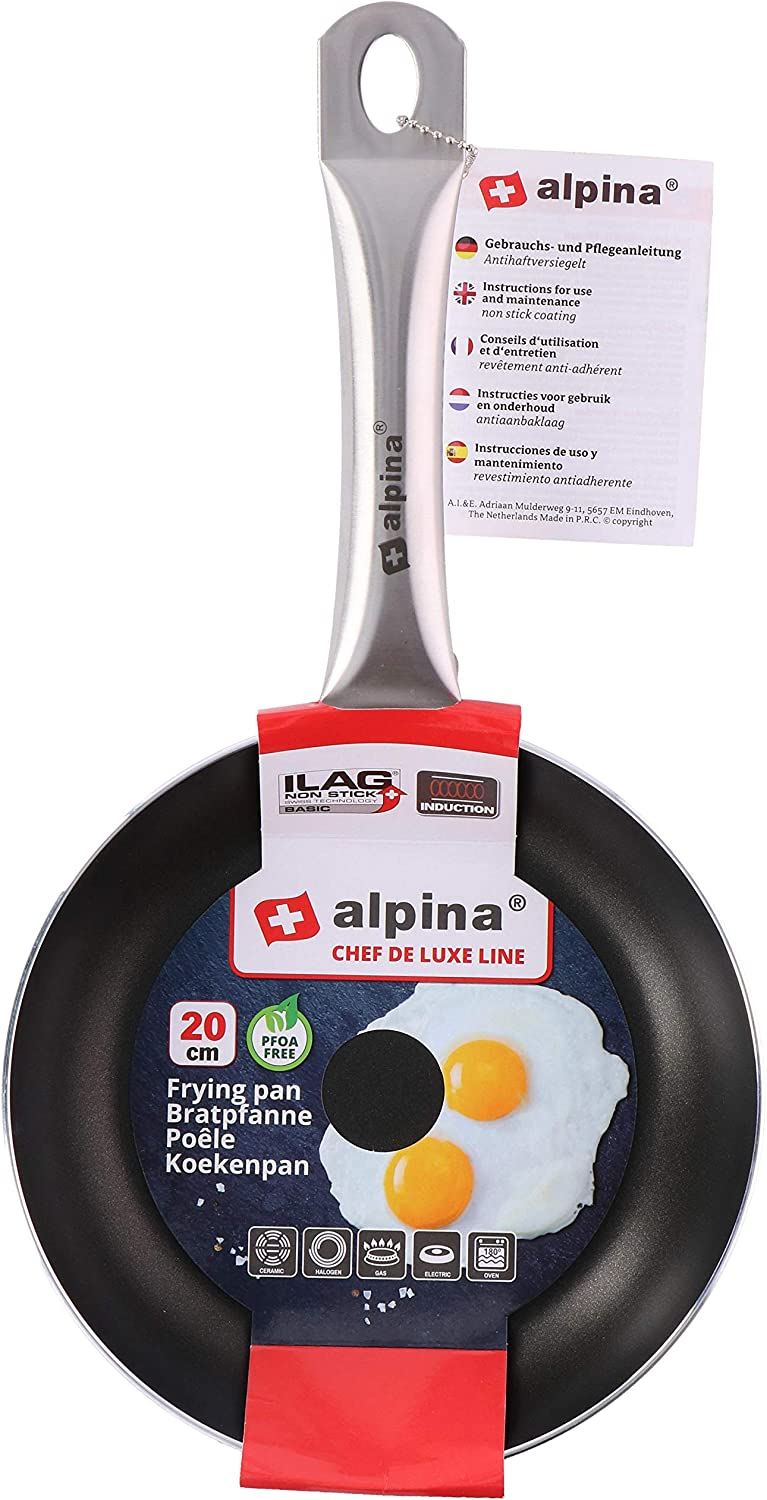 Set of 3 Alpina Chef De Luxe Non-Stick Induction Frying Fry Pan