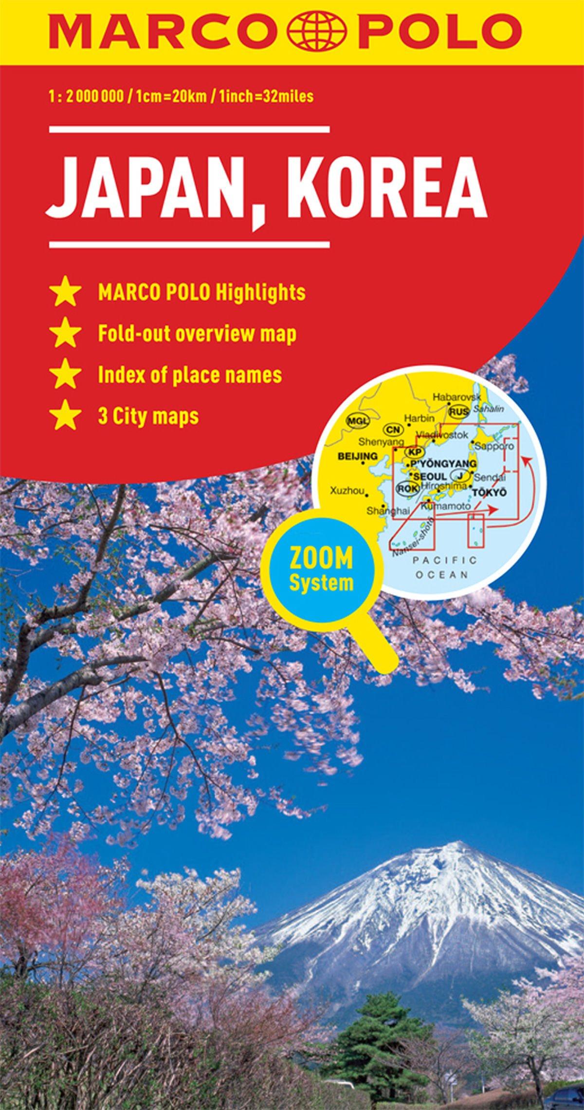 Japan Korea Marco Polo Map Marco Polo Maps Amazon Co Uk Marco