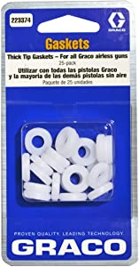 Graco 223374 Flat Tip Thick Base Gasket for Airless Paint Spray Guns, 25-Pack