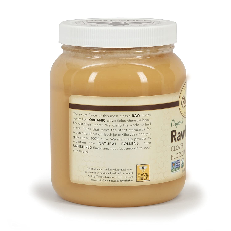 Amazon GloryBee Clover Blossom Raw Organic Honey 48 Ounce
