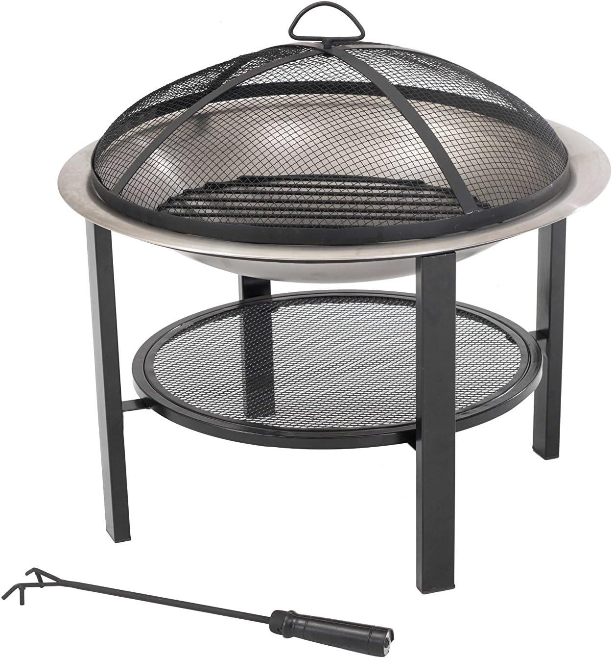 Sunjoy 26 Verde Stainless Steel Fire Pit
