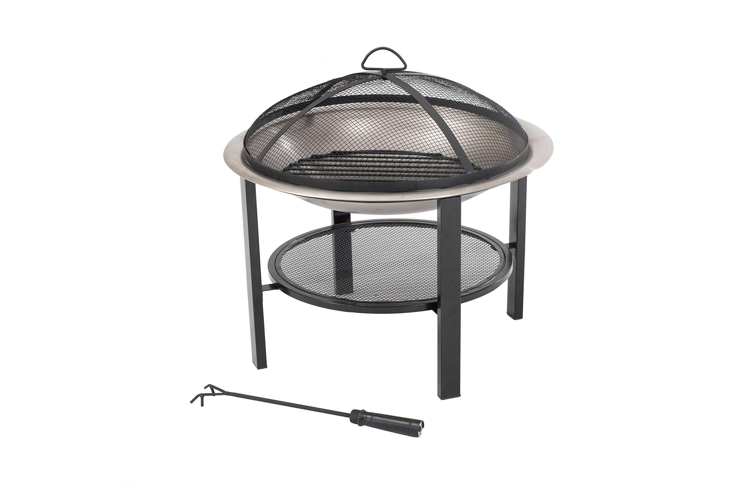 Sunjoy 26'' Verde Stainless Steel Fire Pit