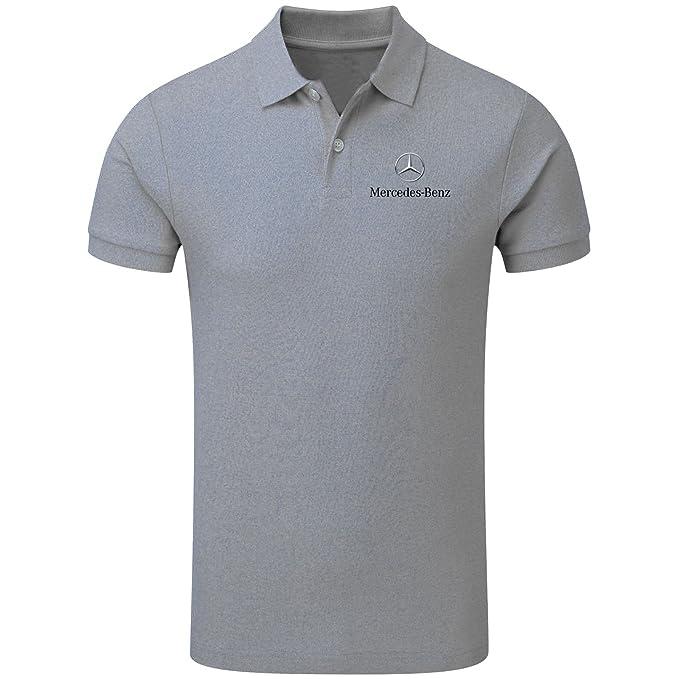Neu Herren Sport Mercedes AMG Polo-Shirt T-Shirt Fan Bekleidung mit Stickerei