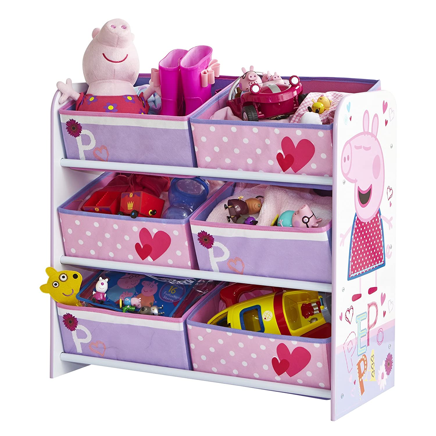 Peppa Pig Bedroom Accessories Peppa Pig Kids Storage Unit By Hellohome Amazoncouk Kitchen