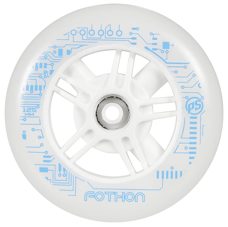 Powerslide 905203/125 Fothon - Ruedas para patines (125 mm), color blanco, 1 unidad: Amazon.es: Deportes y aire libre