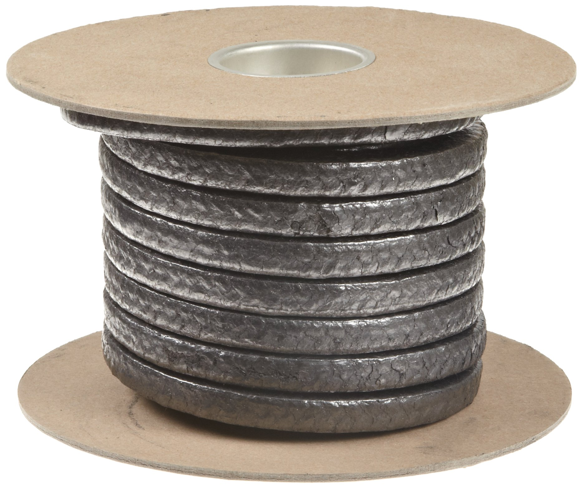 Palmetto 1030AF Series Graphite Impregnated Kynol/Aramid Compression Packing Seal, Dull Gray, 3/8'' Square, 5' Length