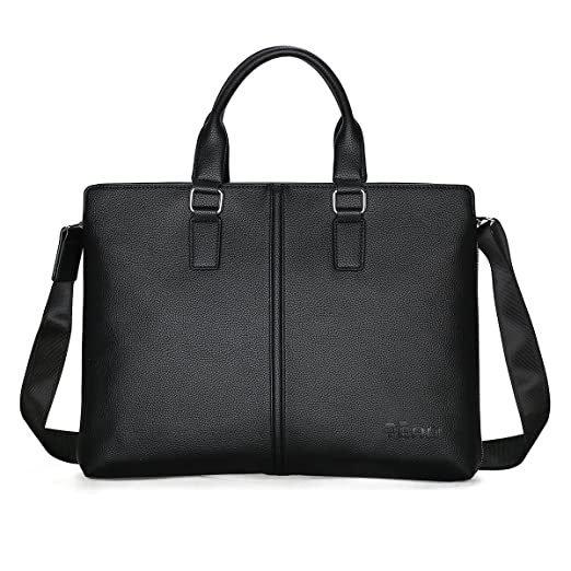 4b20a1c622 Business Mens Briefcase Soft Leather Laptop Briefcase for Lawyers Office Bag  Slim Expandable Briefcases Professional Messenger