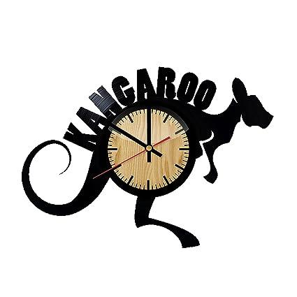 Amazon Com Kangaroo Australia Design Vinyl Wall Clock Handmade