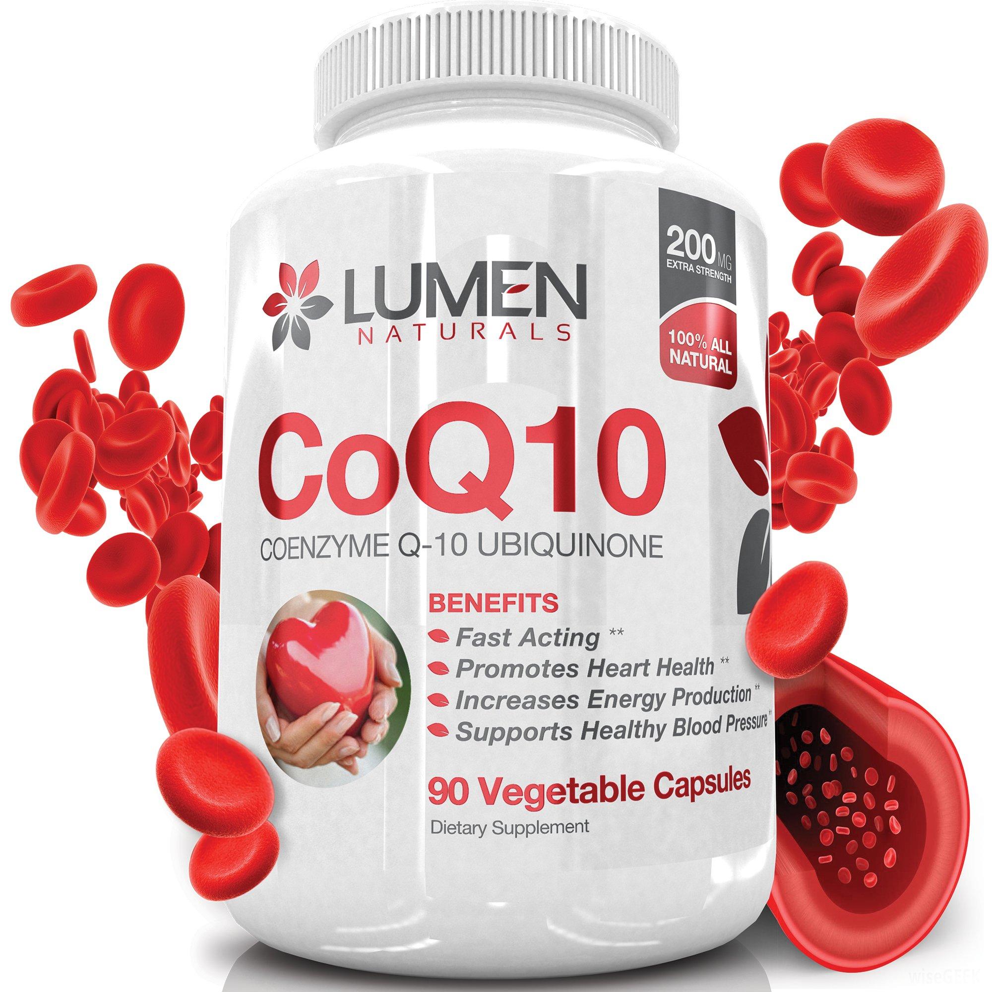 Lumen Naturals Coq10 200Mg - Fast Acting Extra Strength Coenzyme Q10 Ubiquino.. 12
