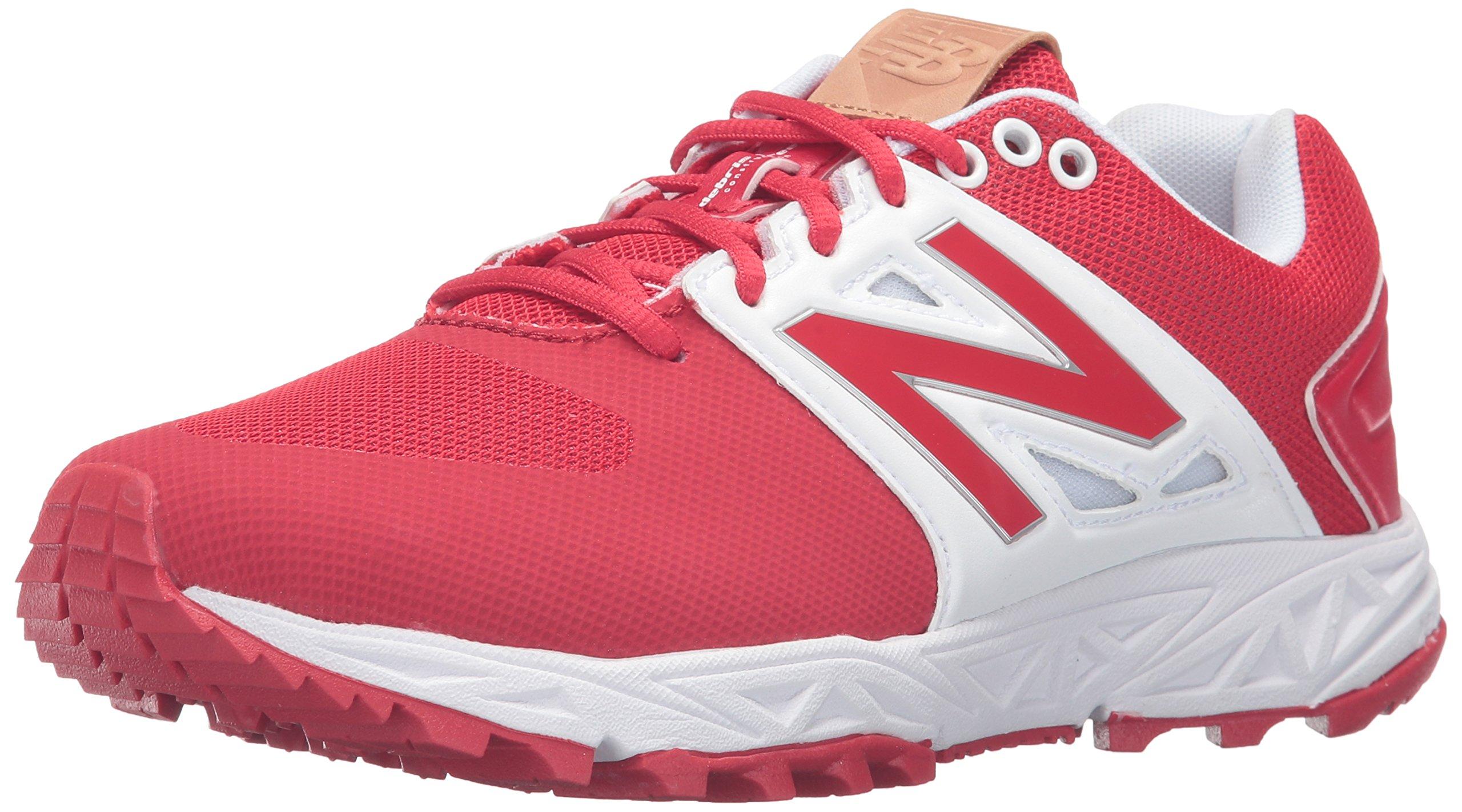 New Balance Men's 3000v3  Baseball Turf Shoes, Red/White - 11.5 D(M) US
