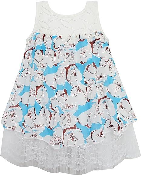 Sunny Fashion EX81 Blusa Floral para Niña Azul 2 Años: Amazon.es: Ropa y accesorios