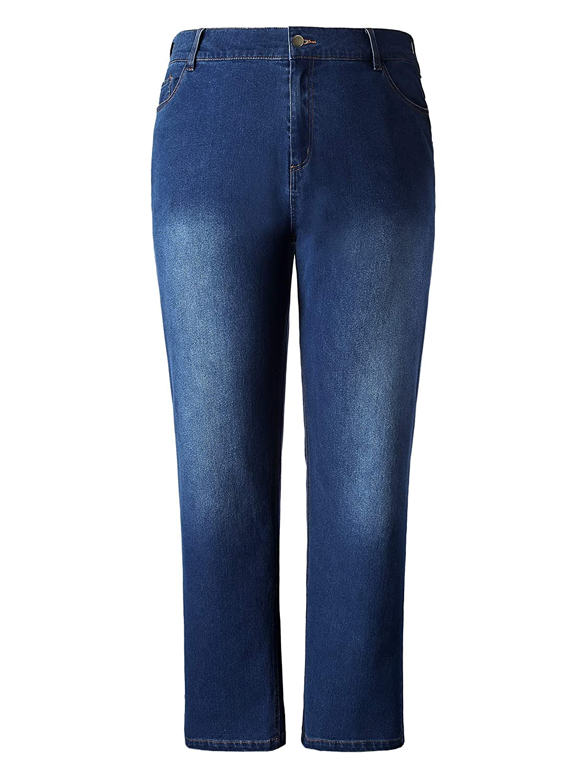 Chicwe Women's Plus Size Stretch Curvy-Fit Jeans - Modern Series Denim Pants C18C440
