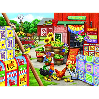 Quilts 300 pc Jigsaw Puzzle by SUNSOUT INC: Toys & Games