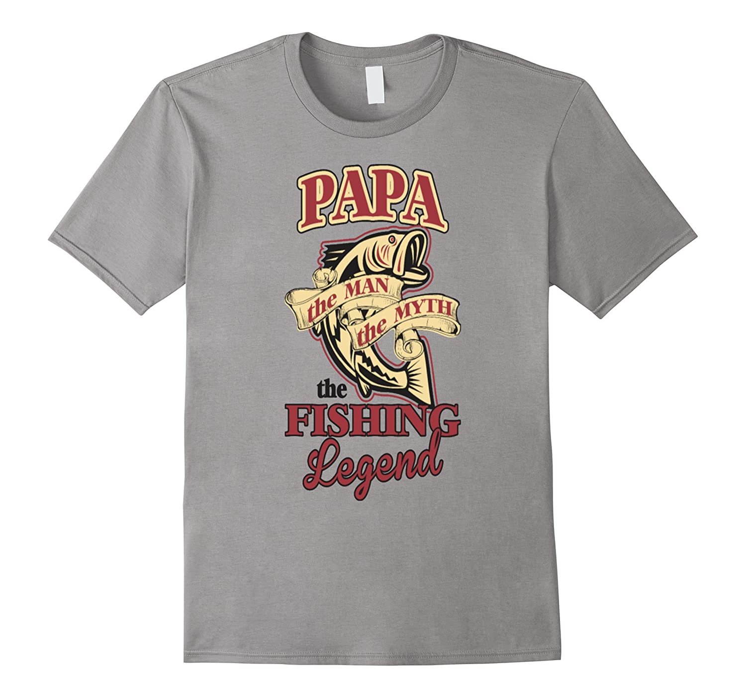 Papa The Man The Myth The Fishing Legend T Shirt Funny-TH