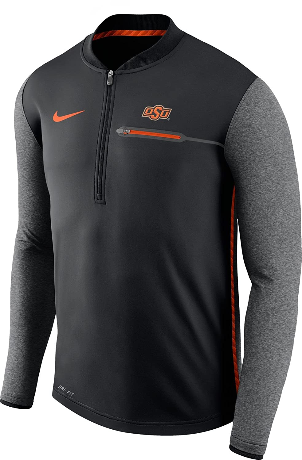 finest selection 3dca3 d8ac5 Nike Men's Oklahoma State Cowboys Coach Black Half-Zip ...
