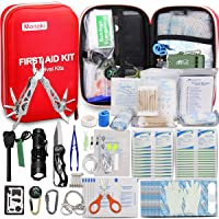 Monoki First Aid Kit Survival Kit, 241Pcs Upgraded Outdoor Emergency Survival Kit...