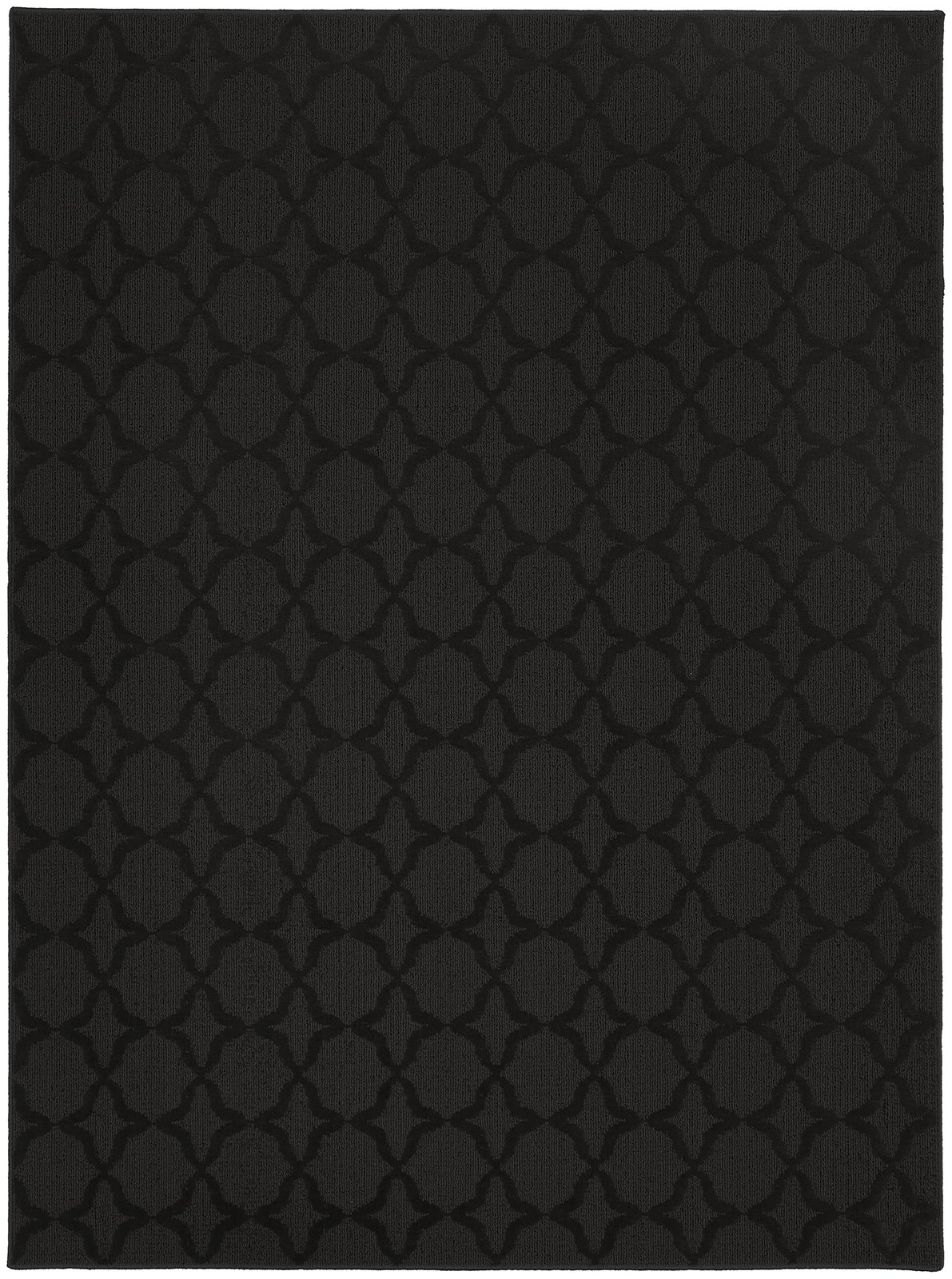 Garland Rug Sparta Area Rug, 7-Feet 6-Inch by 9-Feet 6-Inch, Black