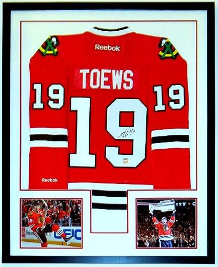 25305913dbc Jonathan Toews Signed Chicago Blackhawks Jersey - Frameworth Sports COA  Authenticated - Custom Framed & 2