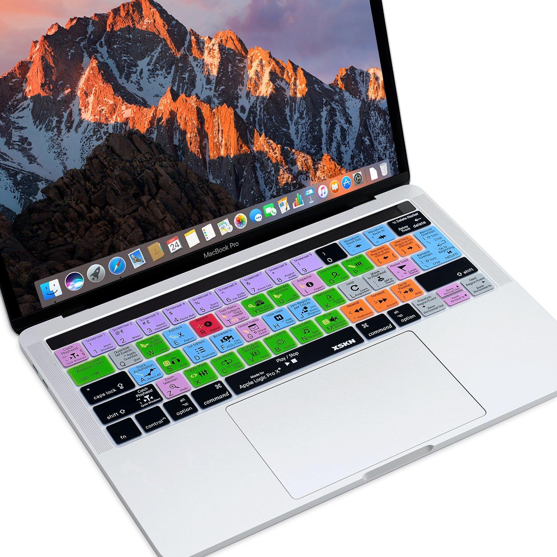 US EU layout Xskn Logic Pro X inglese shortcut silicone della tastiera pellicola protettiva per multi touch bar MacBook Pro Retina 33/cm//38,1/cm A1706/e A1707, rilascio ottobre 2016
