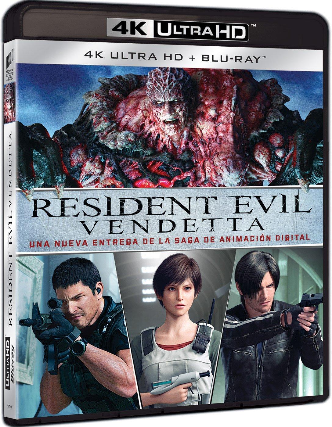 Resident Evil: Vendetta (4K UHD + BD) [Blu-ray]: Amazon.es: Erin Cahill, Kevin Dorman, Arif S. Kinchen, Karen Strassman, Kari Wahlgren, Takanori Tsujimoto, Erin Cahill, Kevin Dorman, Capcom Company, Marza Animation Planet: Cine