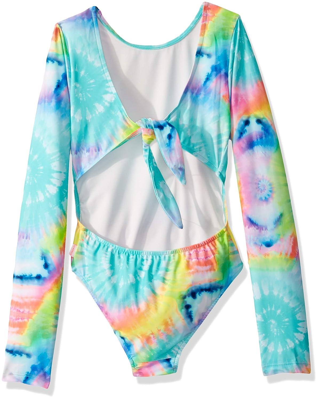 Seafolly Girls Long Sleeve Surf Tank One Piece Swimsuit