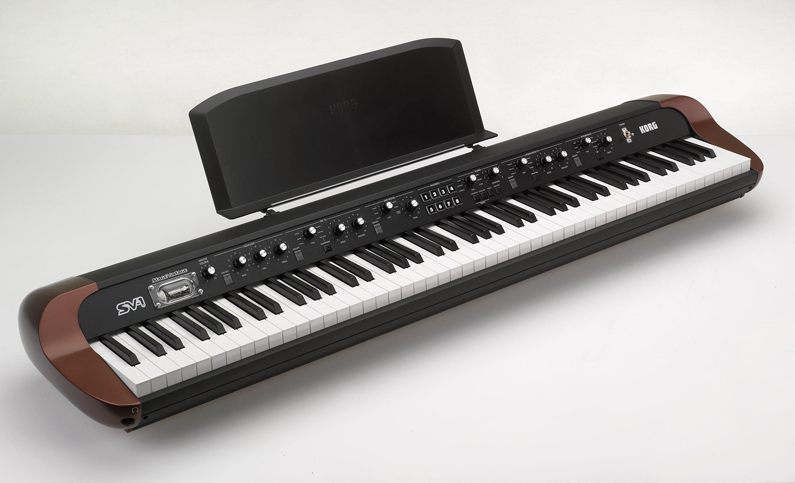 Korg SV188BK - 88 - Key Digital Piano with Vintage Sounds, Black (Renewed) by Korg