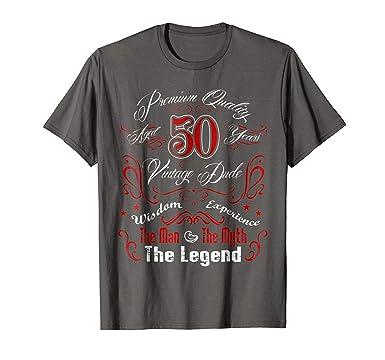 Mens 50 Years Old 50th Birthday Gift The Man Myth Legend 2XL Asphalt