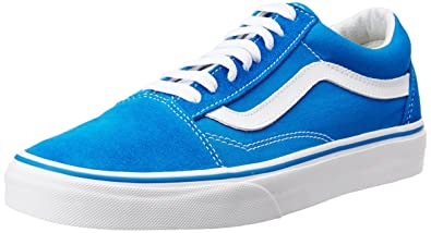 Vans Womens Old Skool Blue Suede Trainers 4 UK