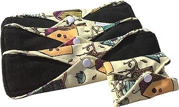 Compresas reutilizables | 4 salvaslip tela muy absorbentes | toallas ...