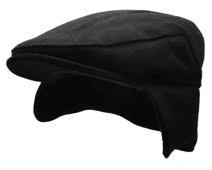 842ee07c Men's Vintage Style Wool Blend Gatsby Ivy Newsboy Hat (Black) at ...