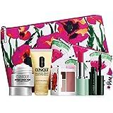 New 2016 Clinique 7 pc Makeup Skincare Gift Set Pink Floral Bag (Warm)