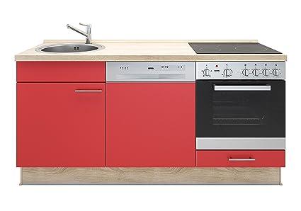 Miniküche Mit Kochfeld Und Kühlschrank : Miniküche mit geschirrspüler spüle ofen kochfeld arbeitsplatte