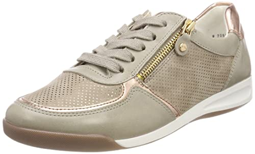 Ara ROM, Zapatillas para Mujer, Weiß (Taupe, Weiss/Platin), 36.5 EU