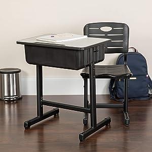 Flash Furniture Adjustable Height Student Desk