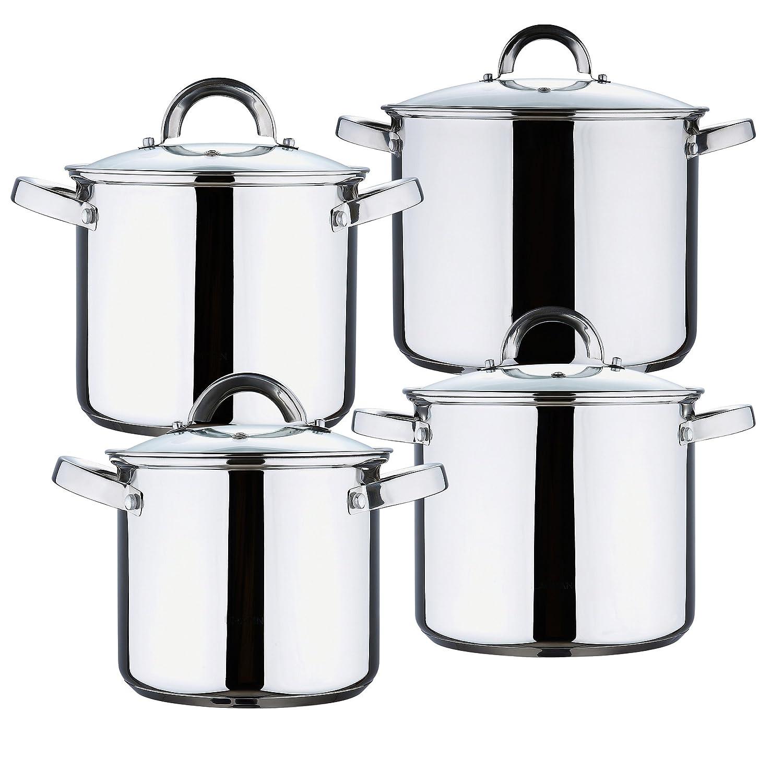 Renberg Sara Bater A De Cocina 8 Piezas Acero Inoxidable  ~ Baterias De Cocina Para Placas De Induccion